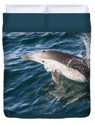 Long-beaked Common Dolphin Porpoising Duvet Cover