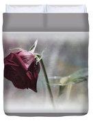 Red Rose Still Life Duvet Cover