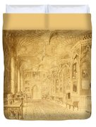 Long Gallery At Strawberry Hill Duvet Cover