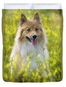 Long Haired Mixed Breed Duvet Cover
