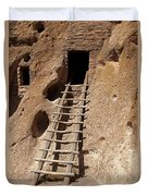 Long House Front Door Bandelier National Monument Duvet Cover