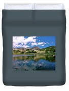 Long Lake Beartooth Pass Duvet Cover
