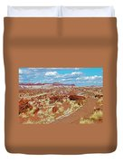 Long Logs Trail In Rainbow Forest In Petrified Forest National Park-arizona  Duvet Cover