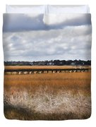 Long Marsh Dock Duvet Cover
