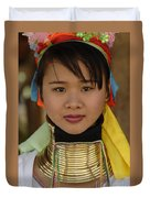 Long Necked Woman Of Thailand Duvet Cover