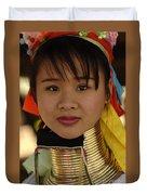 Long Necked Woman Thailand 4 Duvet Cover