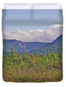 Long Range Mountains In Western Nl Duvet Cover