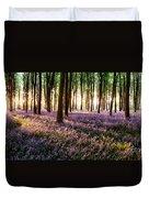 Long Shadows In Bluebell Woods Duvet Cover