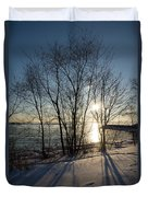 Long Shadows In The Snow Duvet Cover