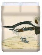Long Tailed Duck Duvet Cover