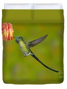 Long-tailed Sylph Duvet Cover