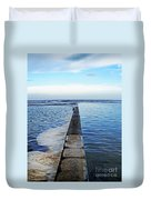 Long View To The Ocean Duvet Cover