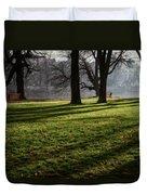Long Winter Shadows Duvet Cover