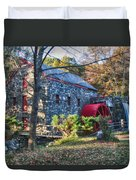 Longfellow's Wayside Inn Grist Mill In Autumn Duvet Cover