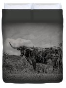 Longhorn Of Bandera Duvet Cover