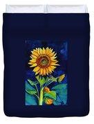 Midnight Sunflower Duvet Cover