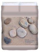 Look - With Haiku Duvet Cover