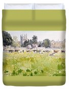 Looking Across Christ Church Meadows Duvet Cover