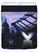 Looking Along The Millennium Bridge Duvet Cover