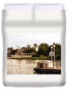 Looking At The Boardwalk Gazebo Walt Disney World Duvet Cover