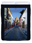 Looking Down Aldama Street, Mexico Duvet Cover