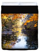 Looking Down The Eno River Duvet Cover