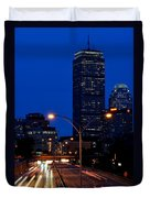 Looking Down The Mass Pike From The Brookline Ave Bridge Duvet Cover