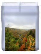 Looking Downstream At Blackwater River Gorge In Fall Duvet Cover by Dan Friend