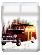 Looking For Surf City Duvet Cover by Bob Orsillo