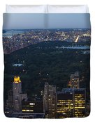 Looking From Top Of The Rock Duvet Cover