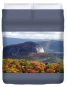 Looking Glass Rock And Fall Folage Duvet Cover