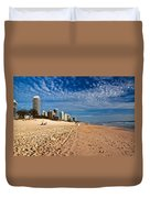 Looking North Along The Beach Duvet Cover