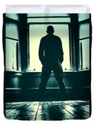 Looking Out Window Duvet Cover by Craig B