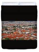 Looking Over Prague Duvet Cover