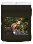 Looking Pretty Foxy Duvet Cover