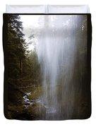 Looking Through Angel Falls Duvet Cover