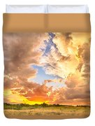 Looking Through The Colorful Sunset To Blue Duvet Cover