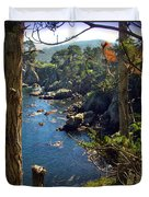Looking Through The Trees At Point Lobos Duvet Cover