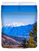 Looking To Mazama From Sun Mountain Duvet Cover