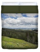 Looking To The Canyon - Yellowstone Duvet Cover