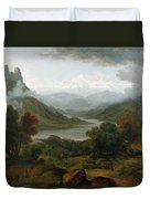 Looking Towards The Val Daosta, Bernese Duvet Cover