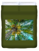 Looking Up A Coconut Tree Duvet Cover
