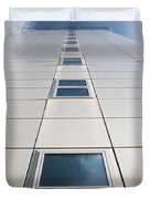 Looking Up At A Modern Building Duvet Cover
