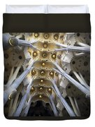 Looking Up At The Sagrada Familia In Barcelona Duvet Cover