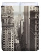 Looking Up Broadway In Nyc Duvet Cover
