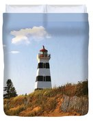 Looking Up From The Dunes At West Point Light Duvet Cover