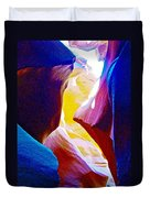 Looking Up In Lower Antelope Canyon In Lake Powell Navajo Tribal Park-arizona  Duvet Cover