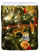 Looking Up The Christmas Tree Duvet Cover