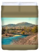 Looking Up The Payette River Duvet Cover