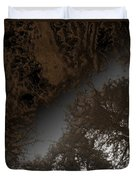 Looking Up Through Copper Forest Duvet Cover